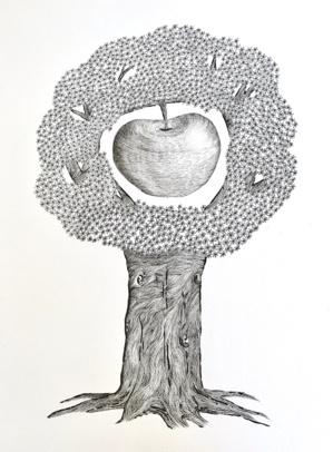 L'oeuf ou la poule ? L'arbre ou la pomme ? ©Paul Rassat