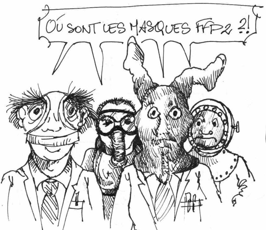 Masques FFP2 et Covid 19 © Franz Schimpl
