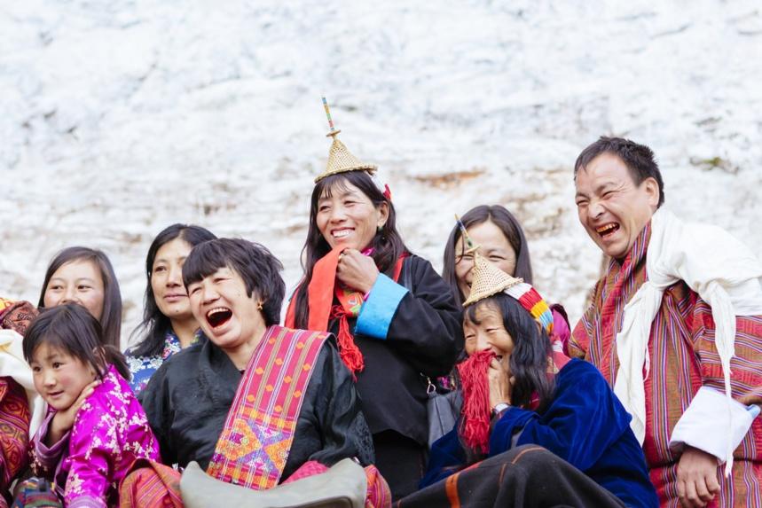 Illustration du Bonheur National Brut au Bhoutan