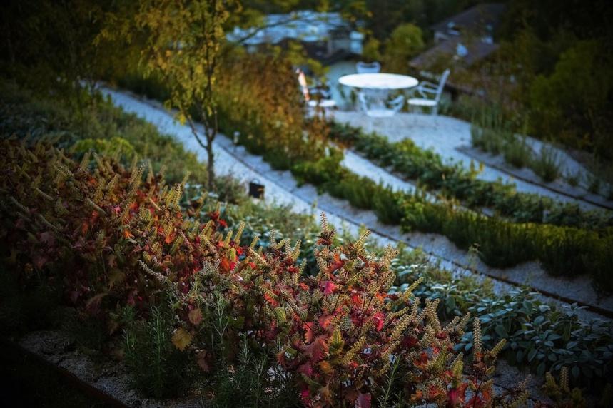 Le jardin Restaurant Laurent Petit - Le Clos des Sens à Annecy-le-Vieux © M. Cellard © M. Cellard