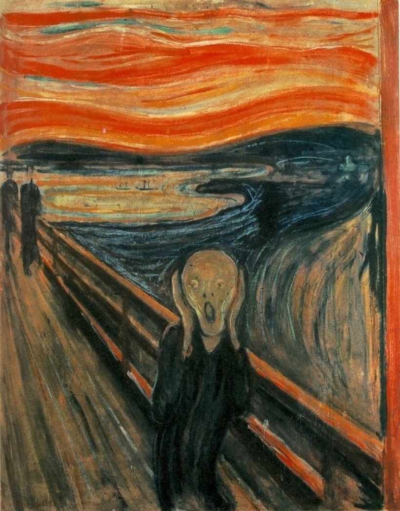 """""""Le cri"""" de Munch. Œuvre prémonitoire ?"""