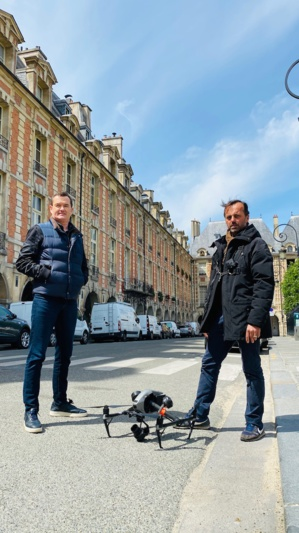 Christophe Lyard (Futura Production) & Marc Didier (Skydrone Film) ©DR