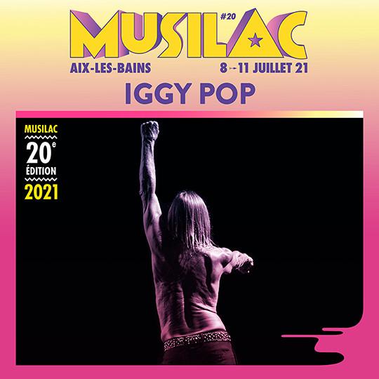 Iggy Pop sera présent en 2021 à Musilac ©DR
