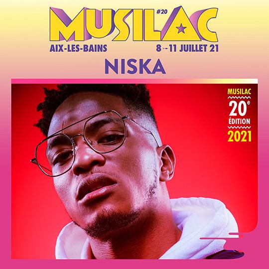Niska sera présent en 2021 à Musilac ©DR