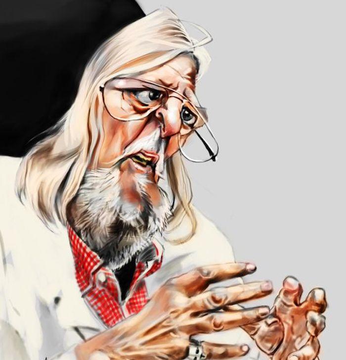 Caricature de Didier Raoult ©Benjamin Ramm