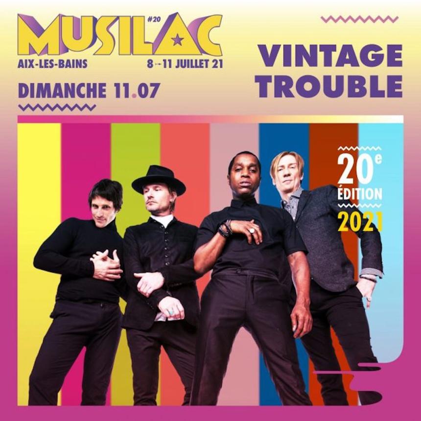 Le groupe Vintage Trouble sera présent au festival Musilac 2021 ©DR