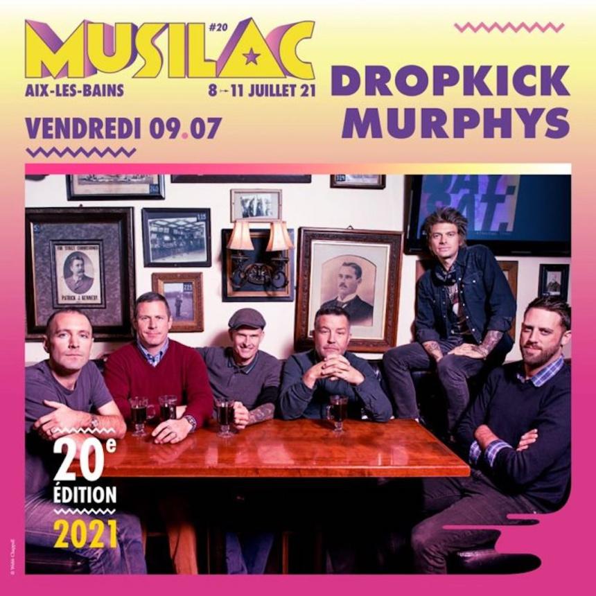 Le groupe Dropkick Murphys sera présent en 2021 au festival Musilac ©DR