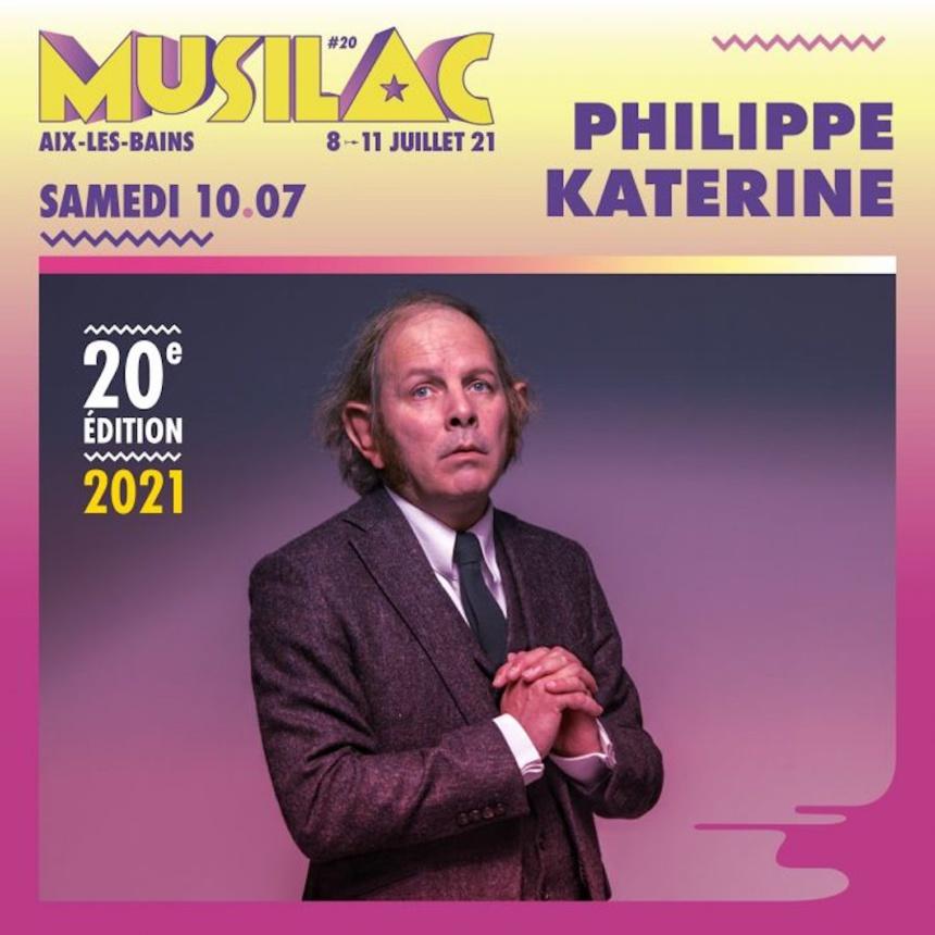 Philippe Katerine sera de la partie pour la 20° édition du festival Musilac