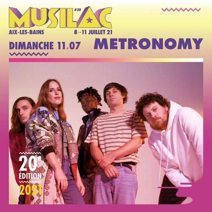 Le groupe Metronomy sera présent pour la 20° édition du festival Musilac en 2021 ©DR