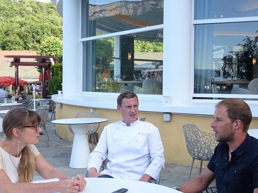 Véronique Droux, Eric Prowalski et Stéphane Tourreau aux Trésoms à Annecy ©Paul Rassat
