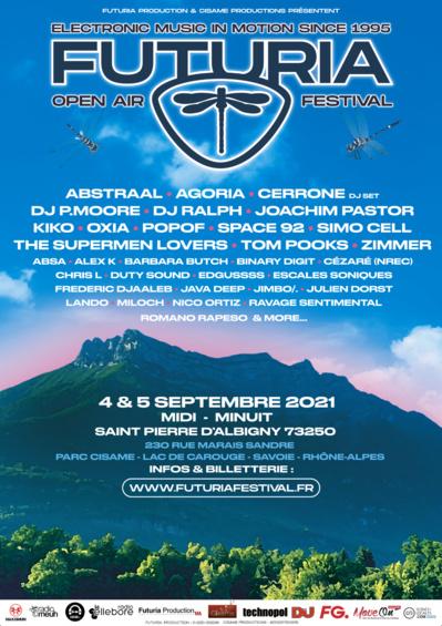 Affiche Futuria Festival 2021