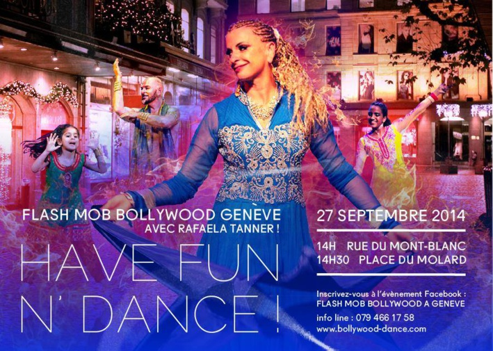 Flash mob Bollywoodien à GENEVE le 27 sept. 2014