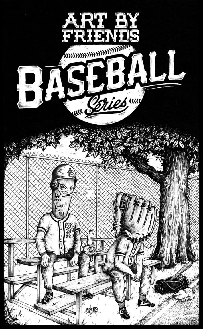Galerie Art By Friends // 1 An // Baseball Séries