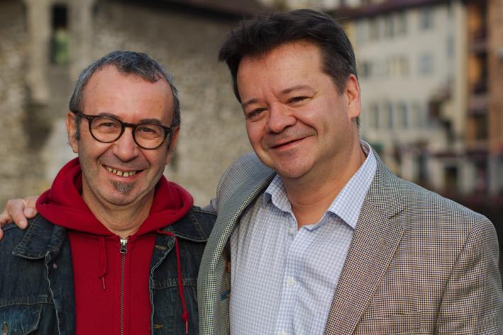 Patrick Eveno et Marcel Jean © G. Piel/CITIA