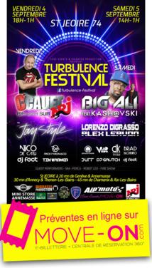 Turbulence Festival à Saint-Jeoire les 4 et 5 septembre 2015