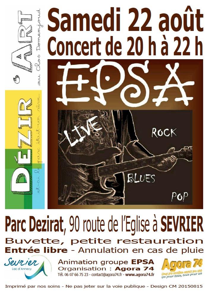 ESPA en concert le 22 Août 2015 à Sevrier