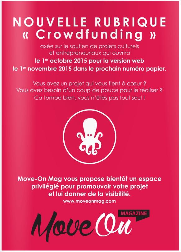 """Nouvelle Rubrique """"Crowdfunding"""" ! Entrez dans le Move !"""