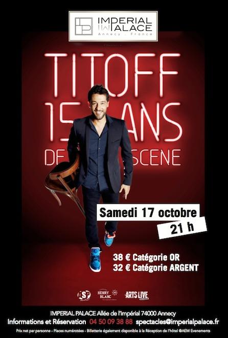 Titoff à L'Imperial Palace le 17 Octobre