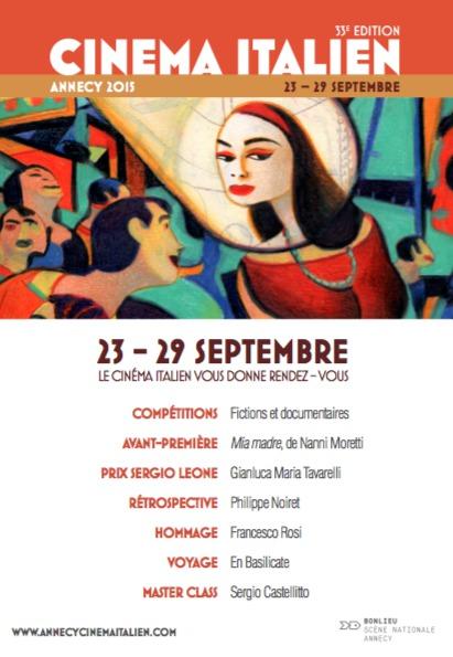 Festival du cinéma italien. Annecy 23/29 septembre, Centre Bonlieu