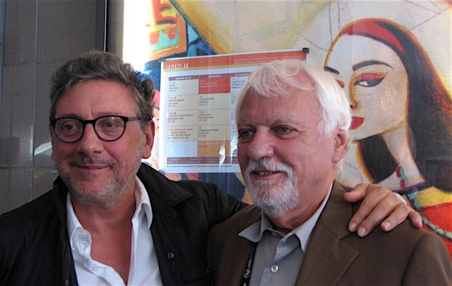 Jean Gili (à droite) avec Sergio Castellitto