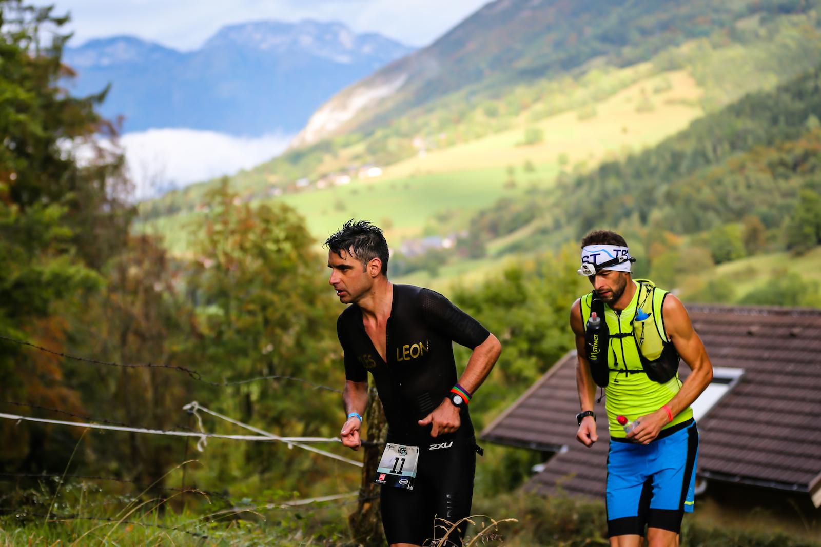 Cédric Jacquot dans la montée final vers le sommet du Semnoz @TRIMAX