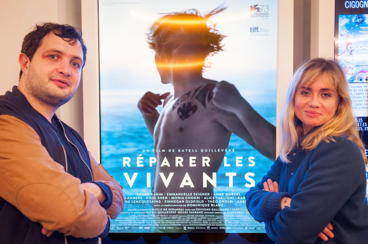L'acteur Karim Leklou et la réalisatrice Katell Quillévéré
