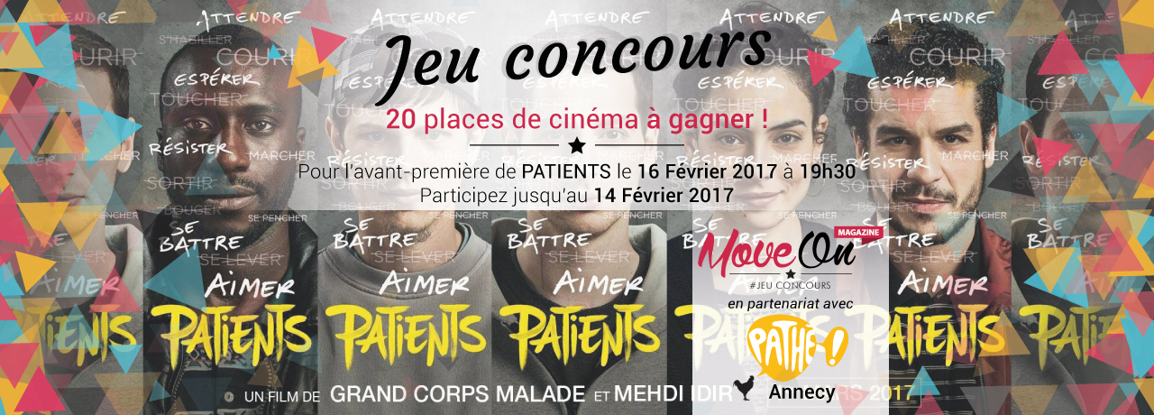 JEU CONCOURS : 20 places de cinéma pour l'avant-première de PATIENTS !
