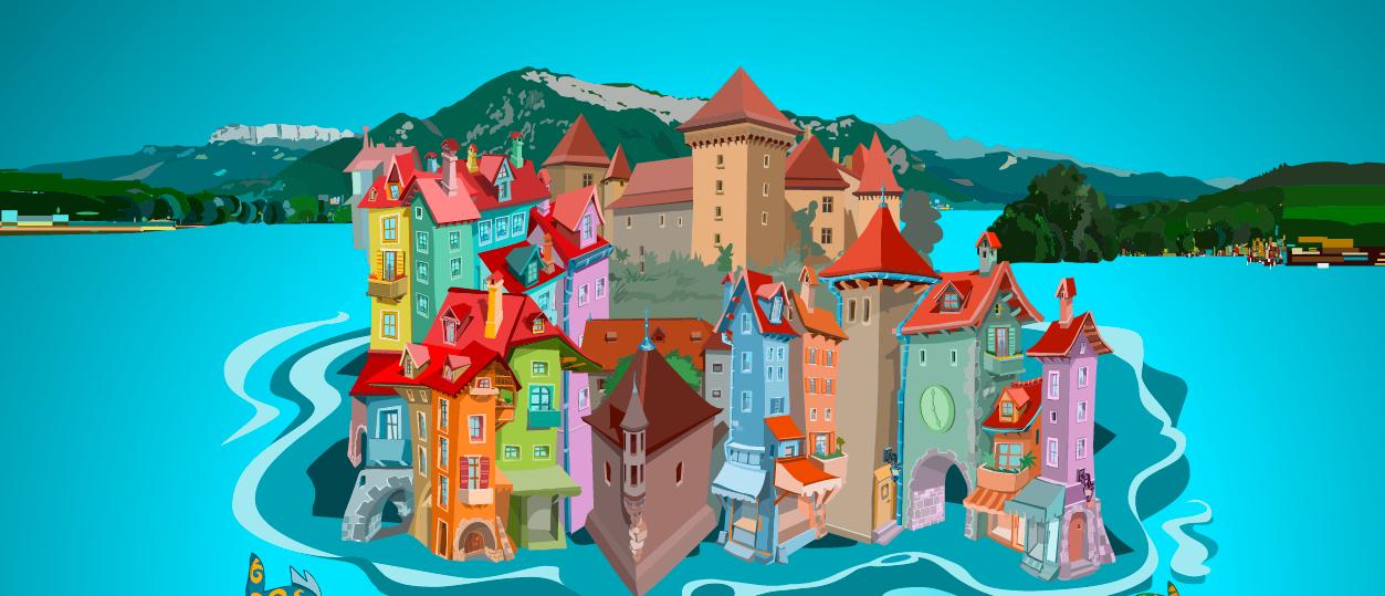 Les bons offices du lac d'Annecy