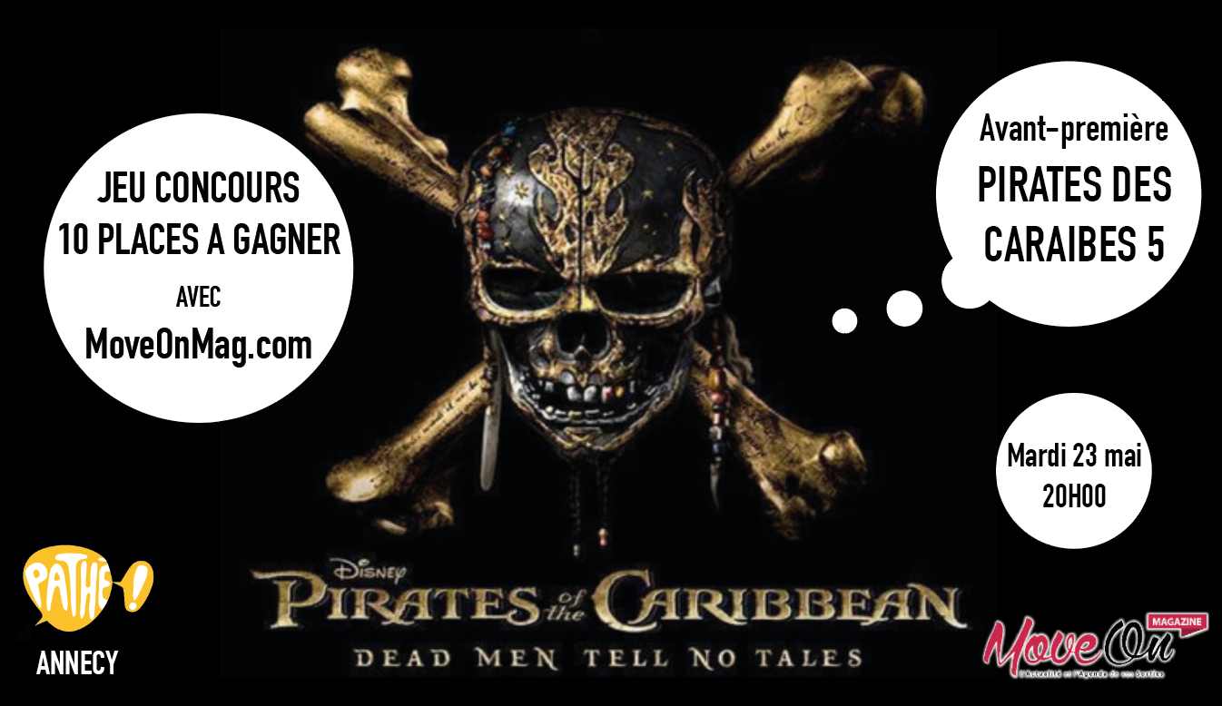 JEU CONCOURS : 10 places à gagner pour l'avant-première de Pirates des Caraïbes 5