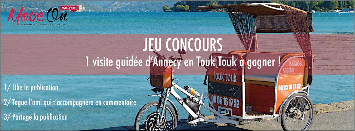 JEU CONCOURS : 1 visite guidée d'Annecy en Touk Touk à gagner !