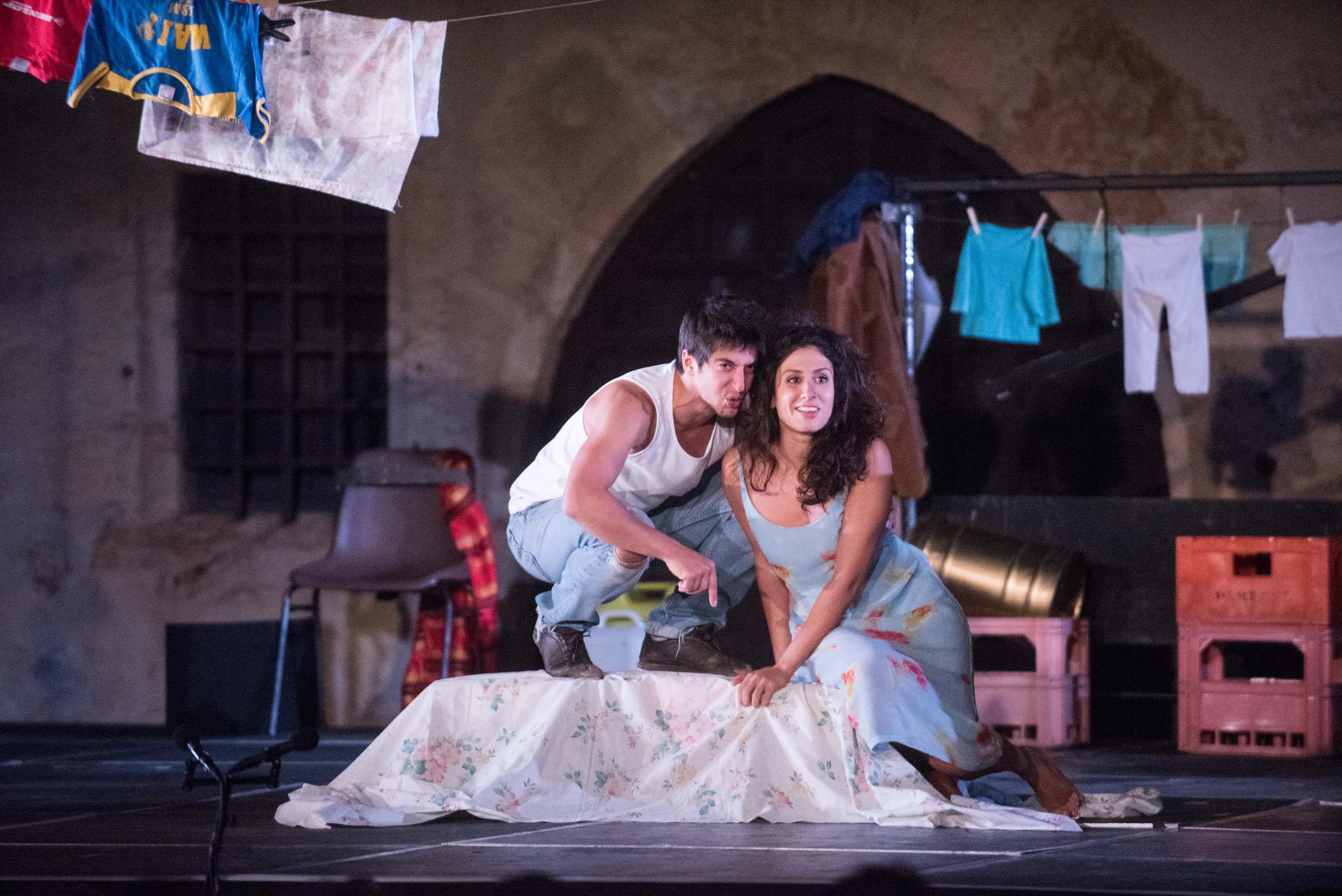 Photo de François Bin Blyo.Aïda Asgharzadeh et Kamel Isker