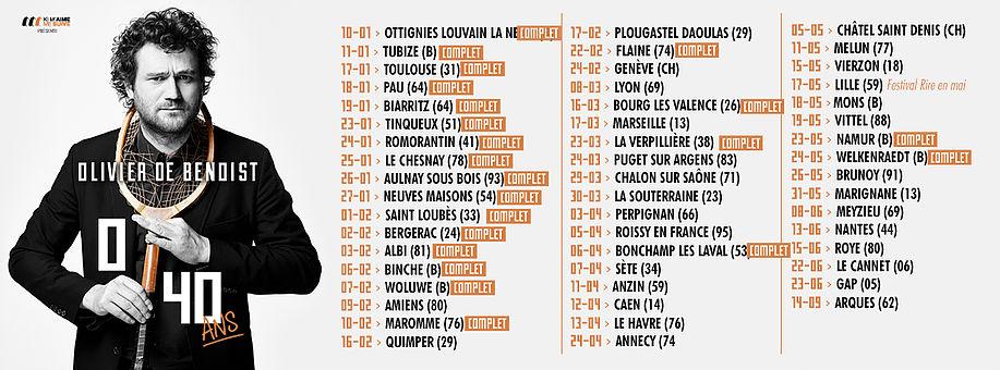 Date de tournée Olivier De Benoist