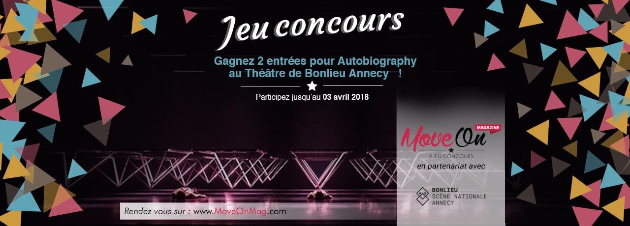 JEU CONCOURS : Gagnez 2 ENTRÉES pour AUTOBIOGRAPHY au Théâtre de Bonlieu Annecy !