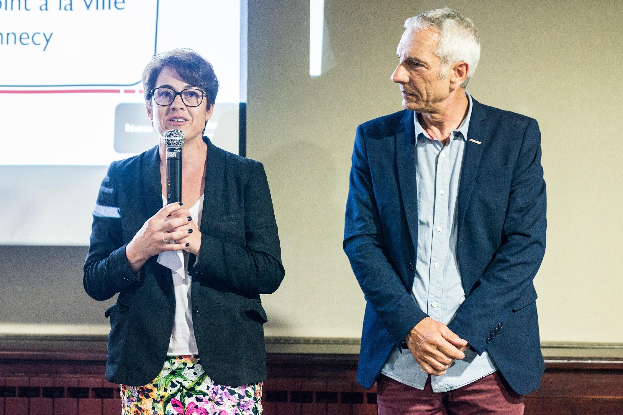 Soirée des anciens de l'IPAC, le 5 juin 2018 aux Tresoms - Annabel André Laurent et F. Scavini