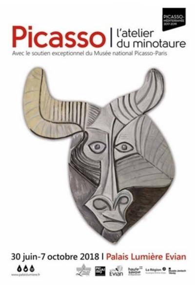 Picasso. L'atelier du Minotaure. Exposition lumineuse au Palais Lumière d'Evian