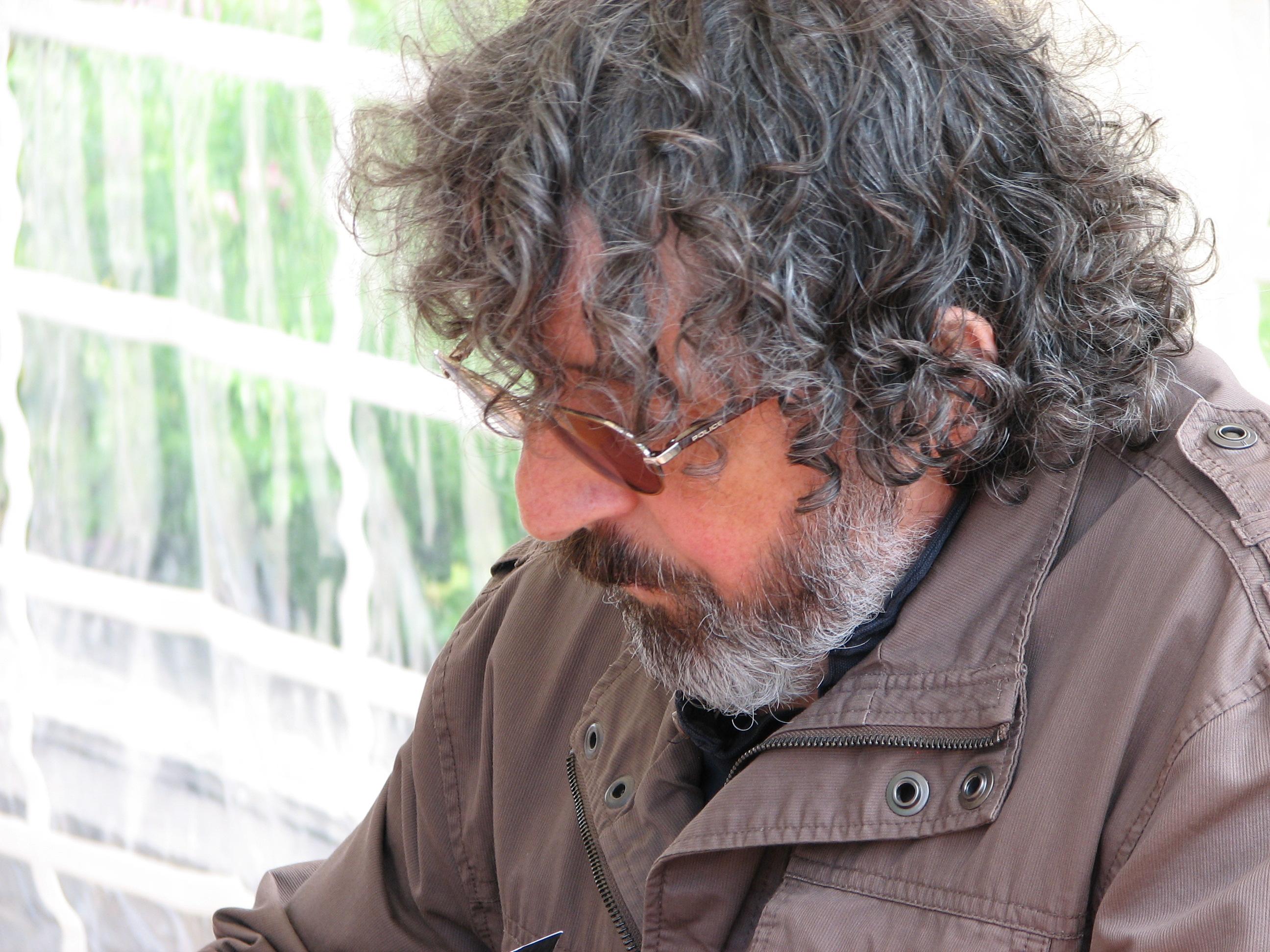 Jean-Marie Gourio à la Fête du Livre de Talloires dont il est l'organisateur