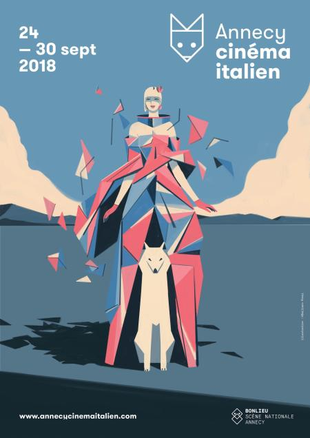 Affiche de la 36° édition du Festival Annecy Cinéma Italien