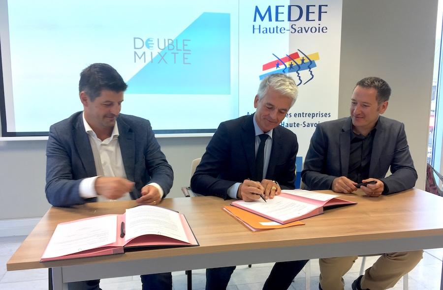 Double Mixte signe un partenariat avec le Medef de Haute-Savoie ©moveonmag