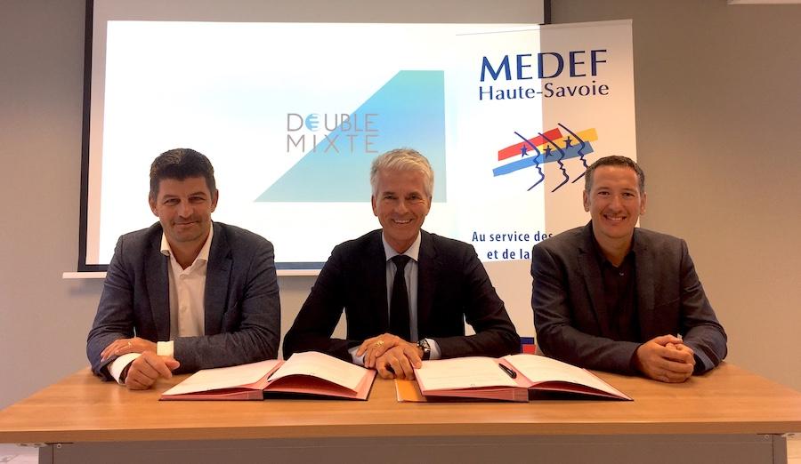 Double Mixte a signé un partenariat avec le Medef de Haute-Savoie ©moveonmag