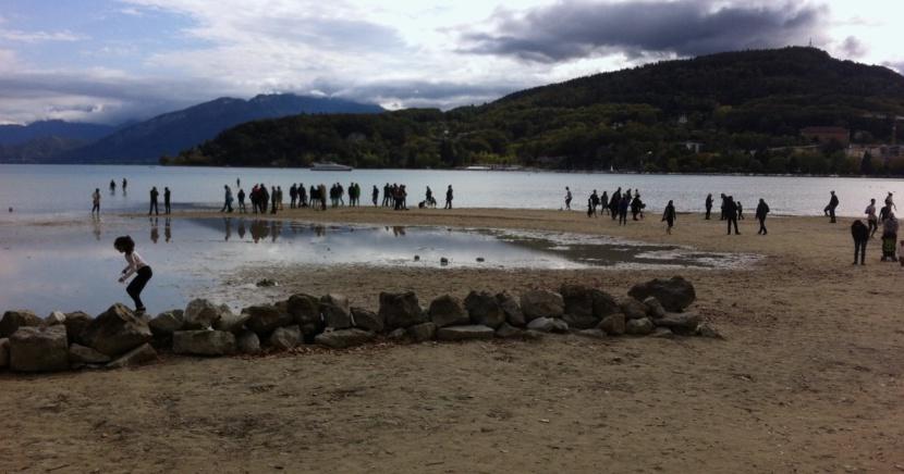 Annecy à marée basse