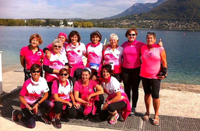 """L'équipe des """"Ladies"""" italiennes avant l'effort"""