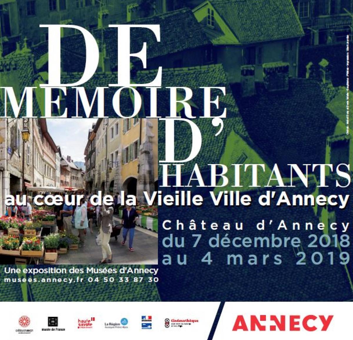 Exposition « De mémoire d'habitants » Château d'Annecy du 7 décembre au 4 mars 2019