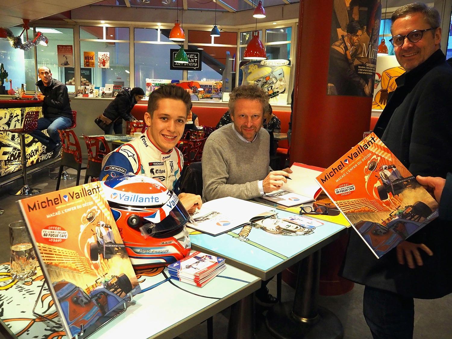 Sacha Fenestraz, Philippe Graton / « Michel Vaillant » Interviews de Philippe Graton / Sacha Fenestraz ©Jean-Luc Taillade