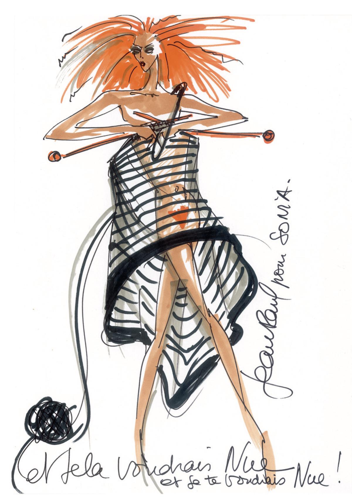 Création spéciale pour Sonia Rykiel et © Jean-Pul Gaultier