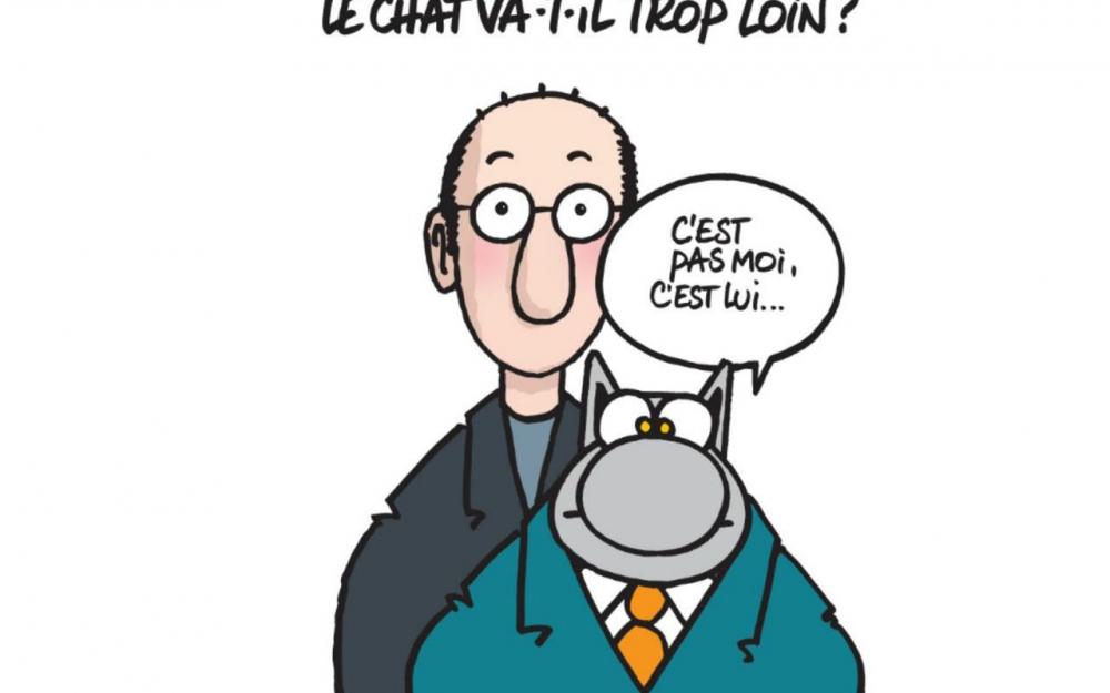 Le Chat et Philippe Geluck, en toute discrétion