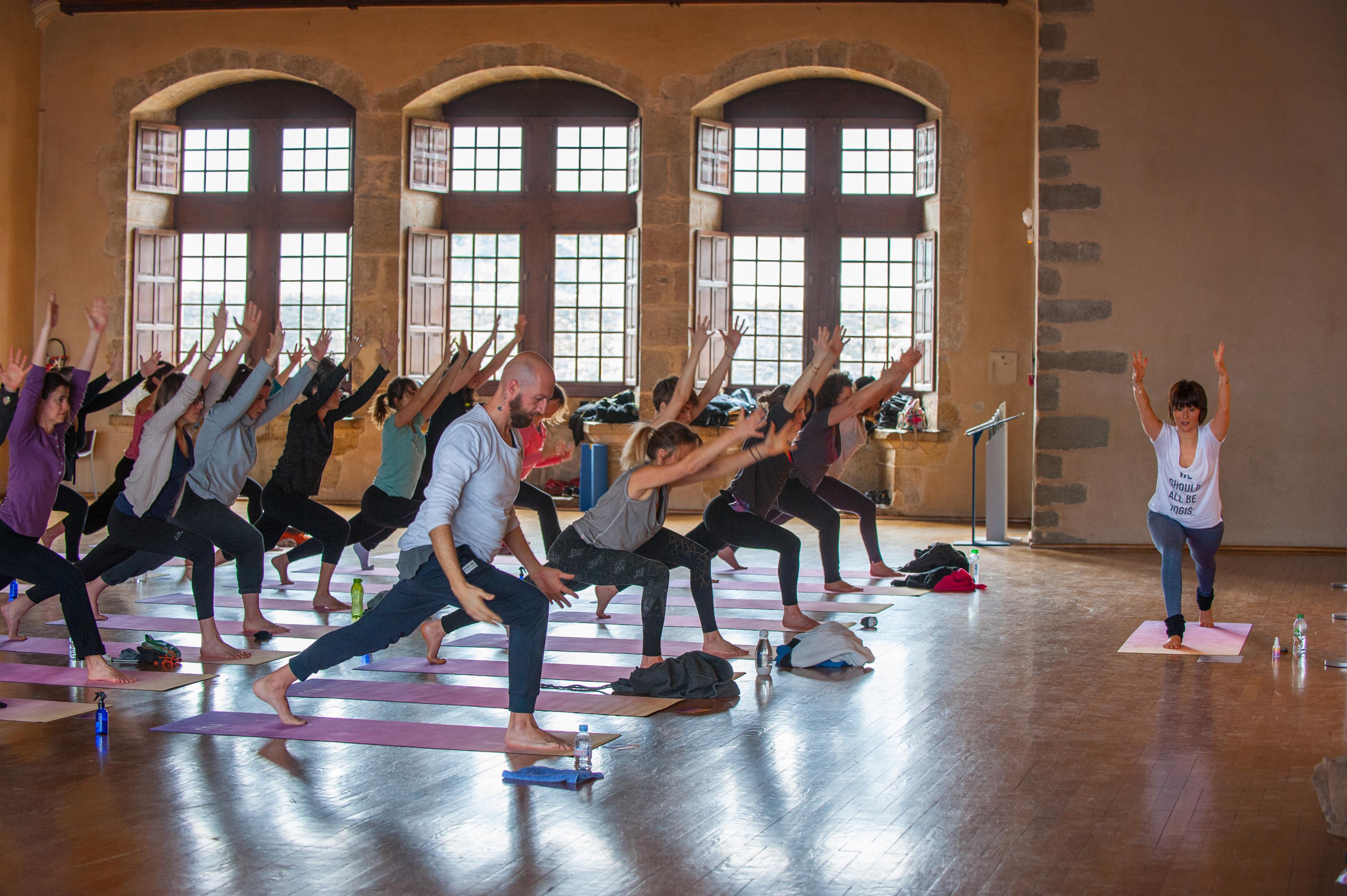 Art & Yoga au Château d'Annecy ©Quentin Trillot. Ville d'Annecy