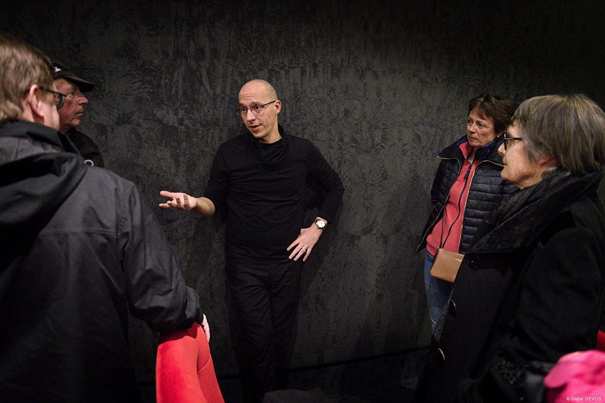 Guillaume Giovanetti pour le film Sibel - Avec le public ©Didier Devos