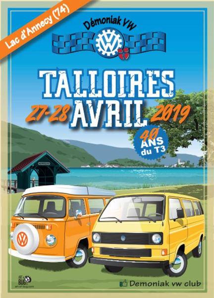 Affiche Meeting VW Talloires-Montmin