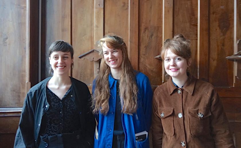 Claire Vernhes, architecte urbaniste, Mathilde Lazuech, réalisatrice et Léa Enjalbert, réalisatrice de films d'animation ©Paul Rassat