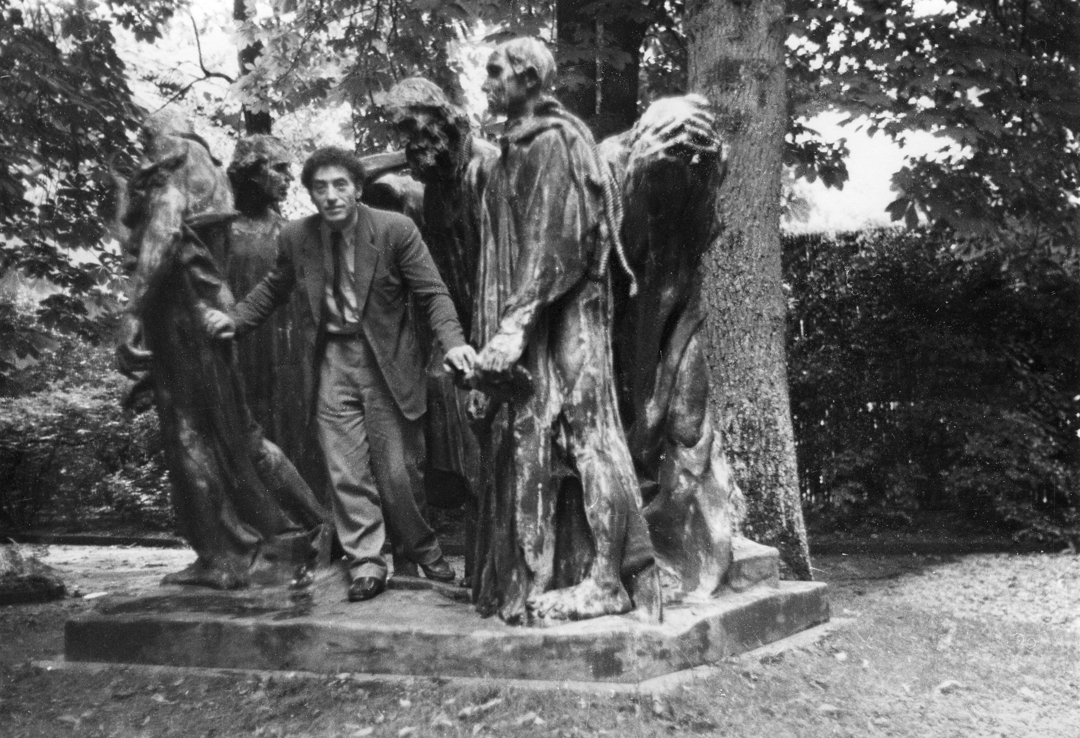 Clin d'oeil de Giacometti à Rodin